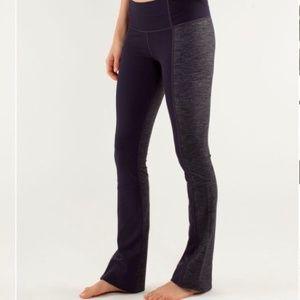 Lululemon Barre Pulse Pant Purple Grey Luon 8 Tall